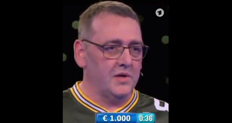 De deelnemer aan de tv-quiz is een Borussia Mönchengladbach-fan in hart en nieren.