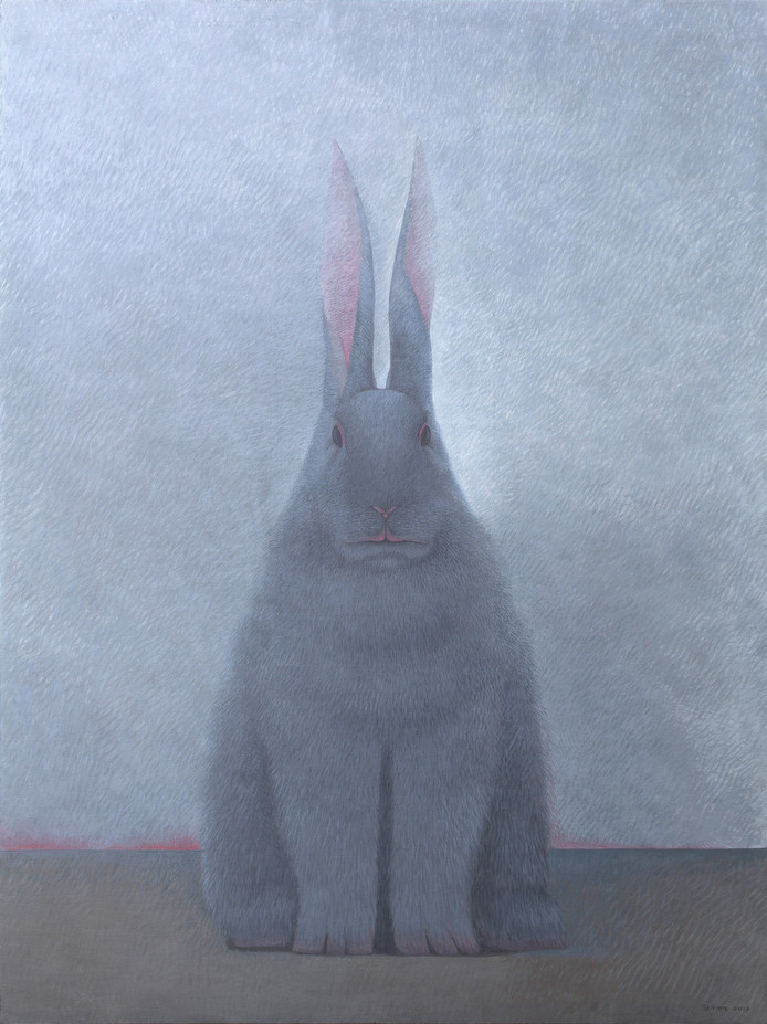 Shao Fan, Rabbit Portrait_Yiwei 2, olieverf op doek, (2015). Privé-collectie Zwitserland