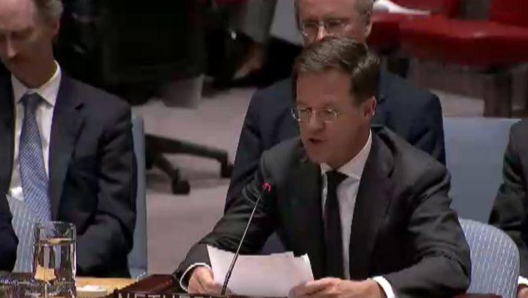 Rutte bij de VN. Beeld null