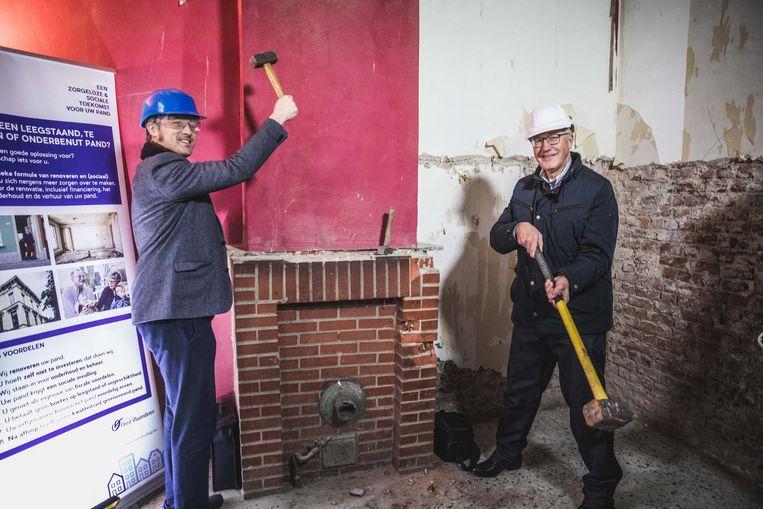 Rudy Coddens en Sven Taeldemans mogen alvast zelf eens de handen uit de mouwen steken.