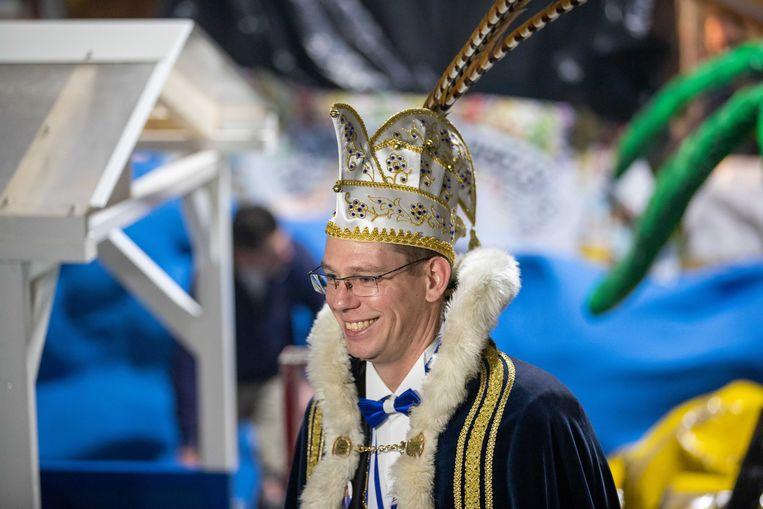 Prins Maerten VIXX van carnavalsvereniging De Wallepikkers.  Beeld ANP