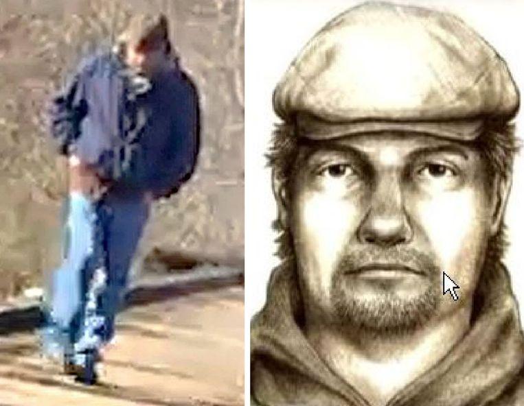 Libby kon ook deze man filmen. Op basis van de beelden maakte de politie een robottekening. De bewuste man is nog altijd niet gevonden.