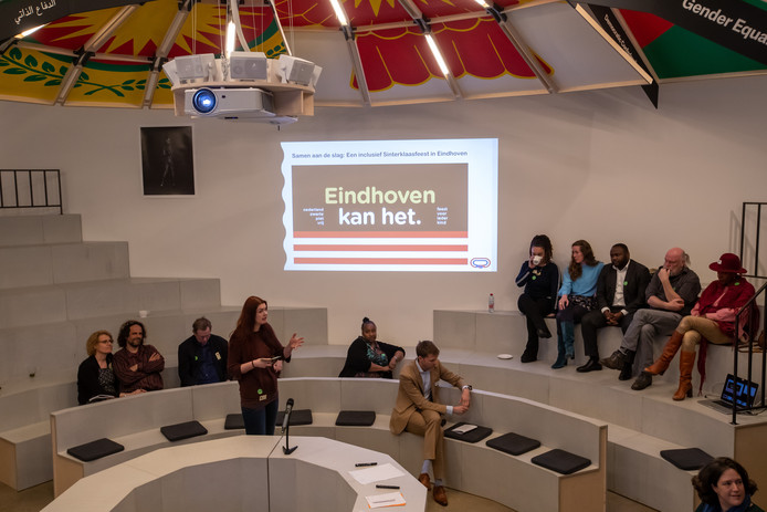 Bijeenkomst intocht zonder zwarte piet Eindhoven