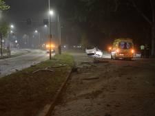 Grote ravage op Insulindelaan in Eindhoven na autocrash