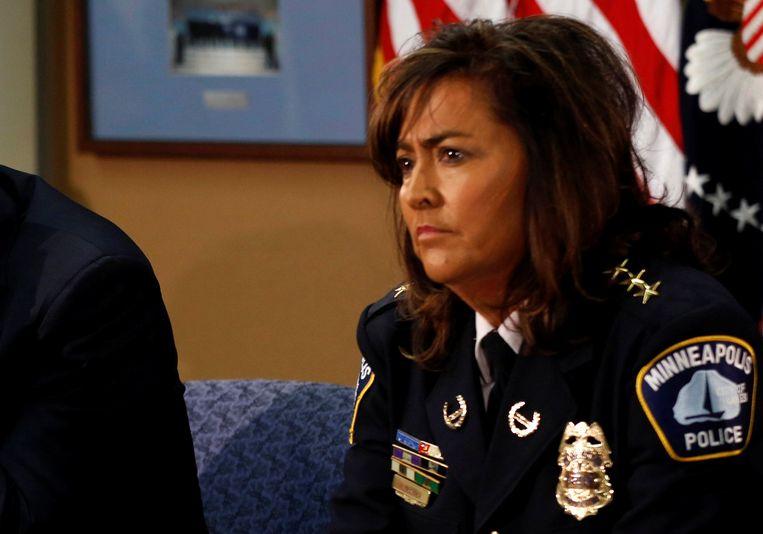De politiechef Minneapolis Janee Harteau nam gisteren ontslag.