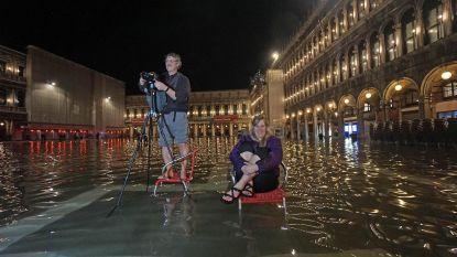 Vorige maand nog last van droogte, nu staat San Marcoplein in Venetië onder water