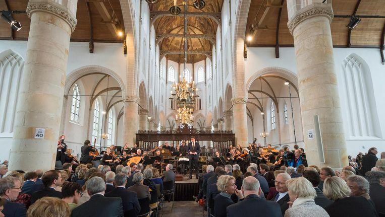 Uitvoering van de Matthäus Passion bij in de Grote Kerk in Naarden in 2016 Beeld anp