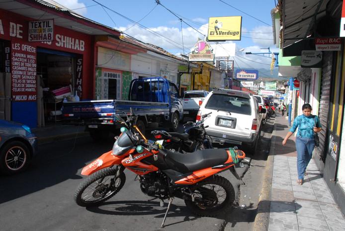Hoofdstraat in Matagalpa.