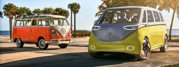 Het oude busje van Volkswagen werd in  1950 in de Verenigde Staten op de markt gebracht, maar werd pas een icoon tijdens en na het Woodstock Festival in 1969. De Transporter werd een hippiebusje.