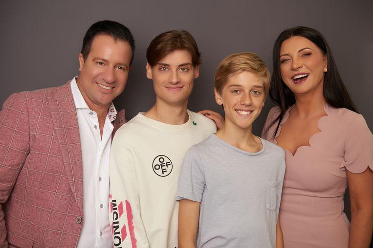 Christian, Seka en hun twee zonen.