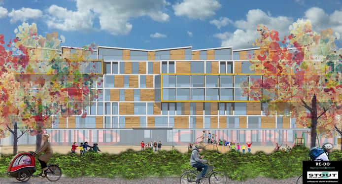 Impressie van het vernieuwde Regiokantoor aan de Noordendijk in Dordrecht, door Schaap en Sturm Architecten.