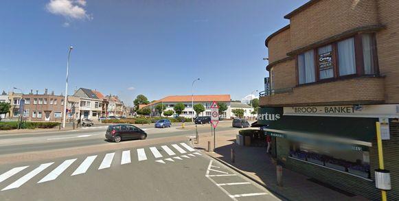 Het kruispunt in Blankenberge.