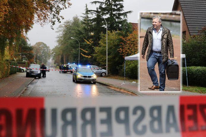 Het plaats delict in Gronau (inzet: advocaat Philippe Schol)
