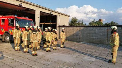 Minuut stilte bij brandweerpost Sint-Lievens-Houtem