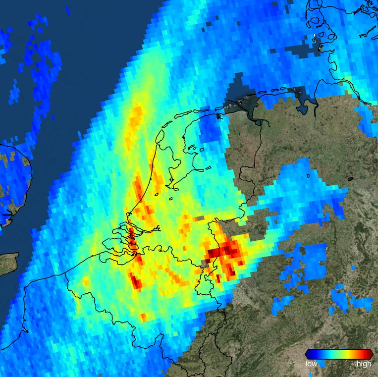 null Beeld Contains modified Copernicus data/Processed by KNMI
