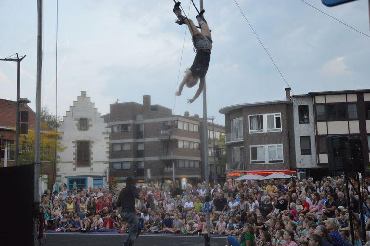 Spektakel tijdens de laatste voorstelling van 'De Donderdagen' vorig jaar.