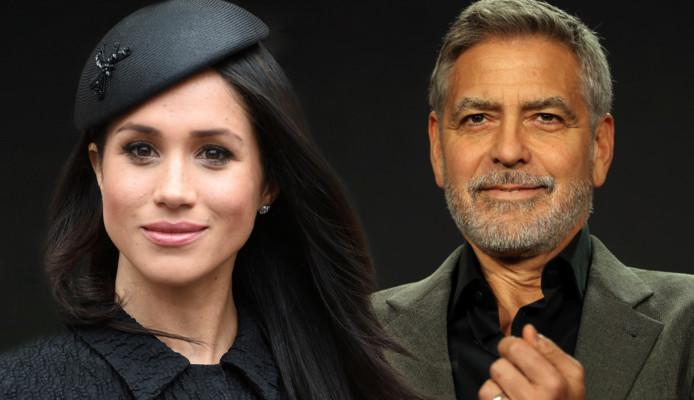 Meghan Markle en George Clooney.