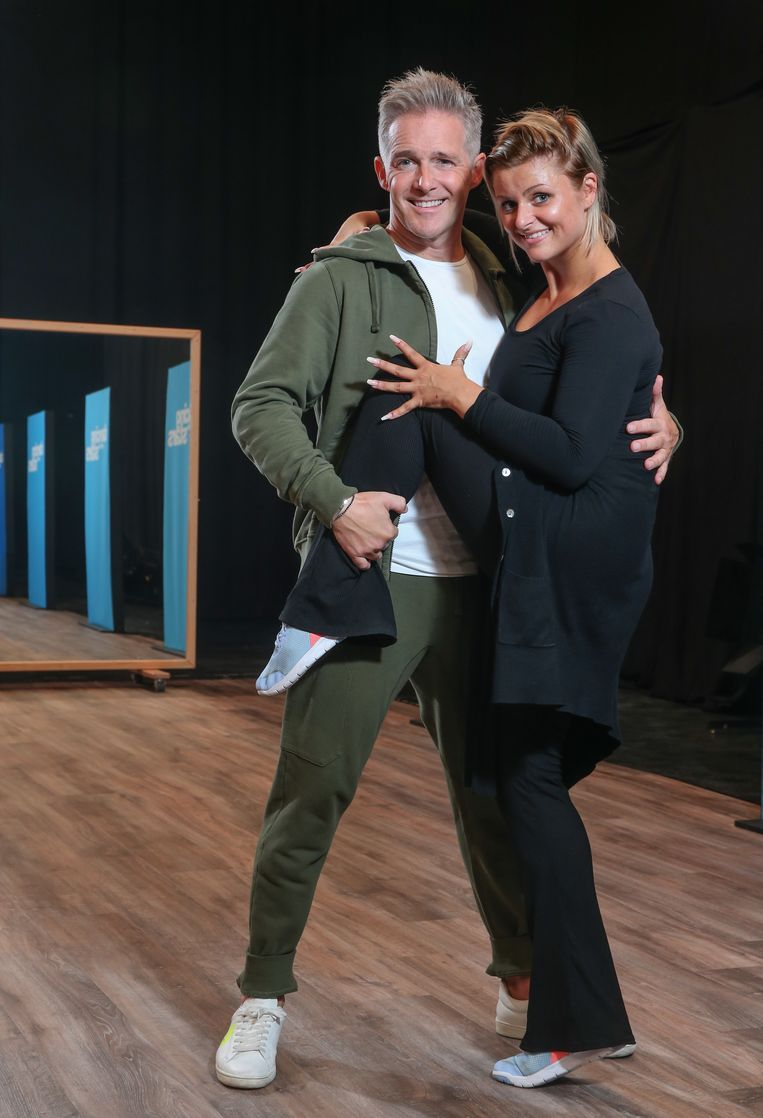 Christoff met zijn danspartner Laura, die vorig seizoen een duo vormde met Peter Van Asbroeck.