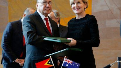 Australië en Oost-Timor tekenen verdrag over zeegrens voor gaswinning