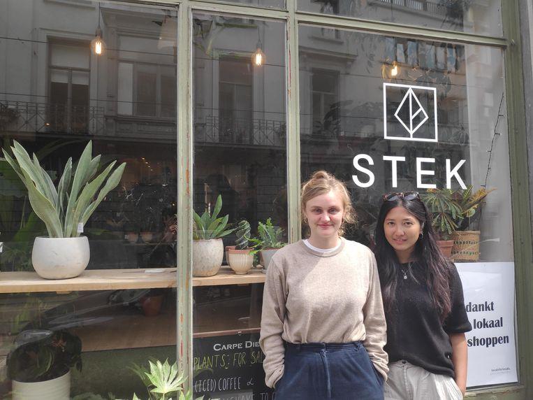 Charming Kerkhof (29) en Elise Everaet (26) voor hun ontbijtbar Stek.