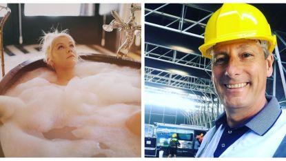 SHOWBIZZ-SNACKS: 'Gert de Bouwer' gaat op werfbezoek en Xtina gaat in bad