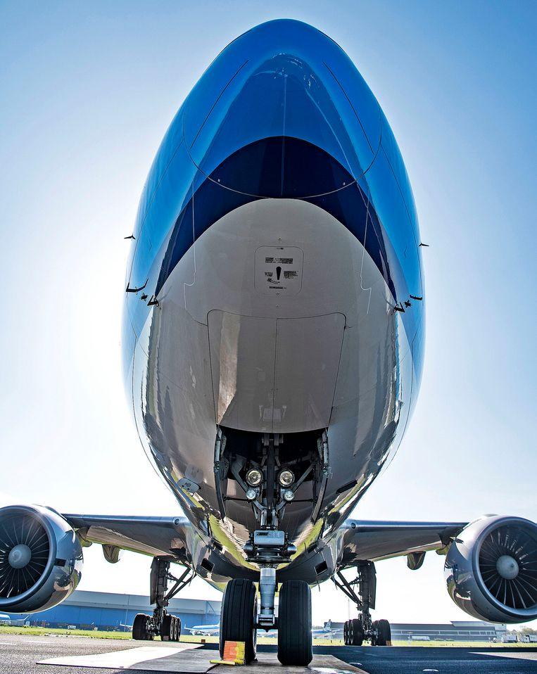 De drie grote luchtvaartmaatschappijen doen groene beloftes die ze al een tijd op de planning hadden staan.  Beeld Guus Dubbelman / de Volkskrant