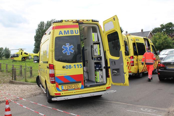 Inzet van de hulpdiensten na het ongeval.