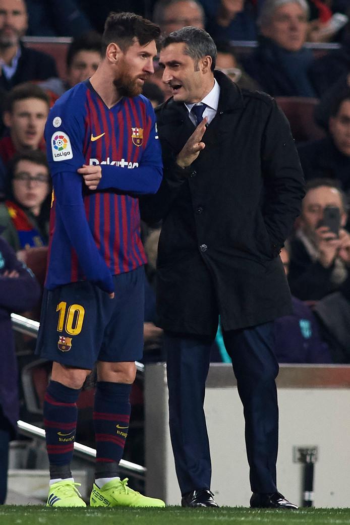 Ernesto Valverde en Lionel Messi