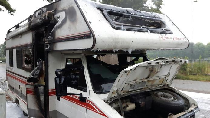 Grote schade aan de camper
