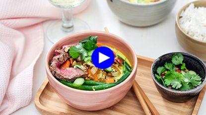 Deze exotische curry van Charlot en Charlotte uit 'Mijn Keuken, Mijn Restaurant' is een smaakbom