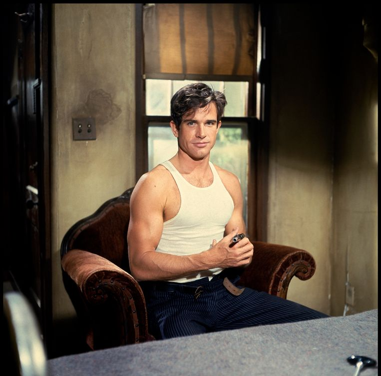 Warren Beatty in Bonnie and Clyde (1967)  Beeld Alamy Stock Photo