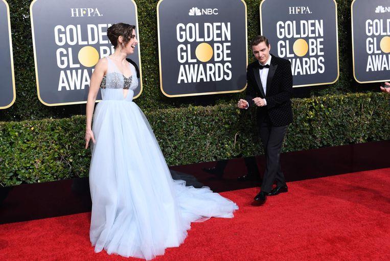 Alison Brie en haar echtgenoot, acteur Dave Franco op de rode loper.