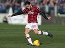 Ricardo Rodriguez in actie namens AC Milan.