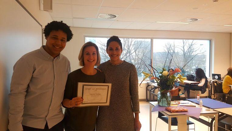 Laura Polder mag zich een jaar lang Leraar van Amsterdam noemen. Beeld D66 Amsterdam