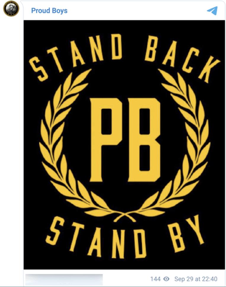 Het Proud Boys-logo. Beeld Twitter
