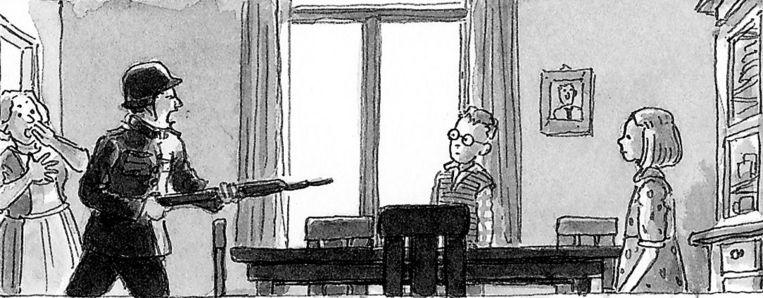 Illustratie uit Oorlog En Vriendschap Beeld -