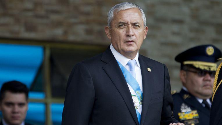 President Otto Perez eind juni van dit jaar.