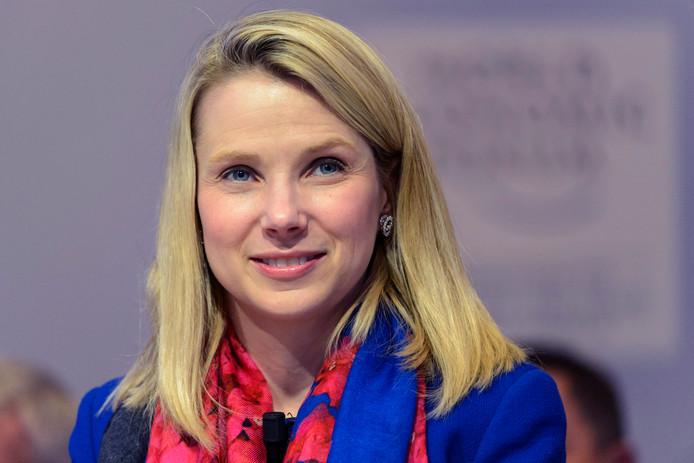 Directeur Marissa Mayer van Yahoo op archiefbeeld.