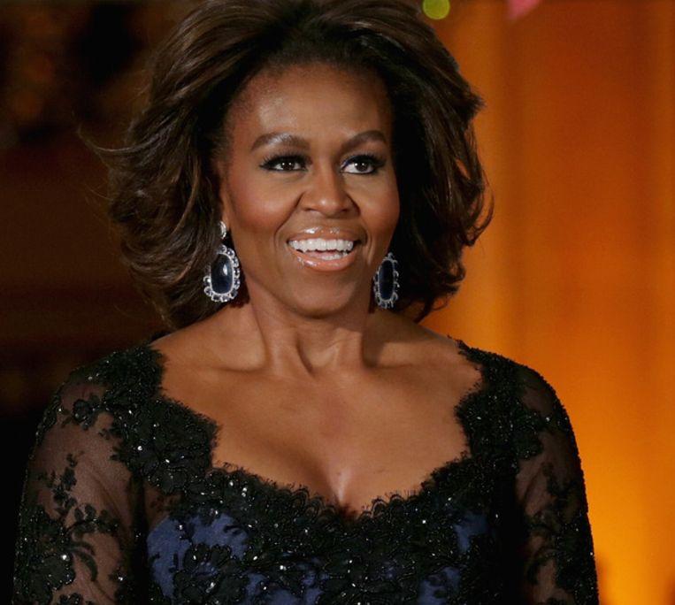 Michelle Obama is deze week te gast bij Jimmy Fallon. Beeld getty