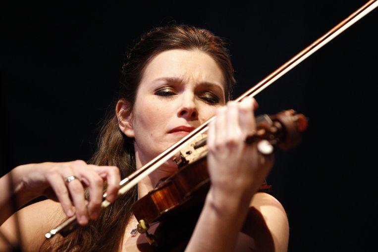 Violiste Janine Jansen in het Concertgebouw in 2014. Beeld ANP
