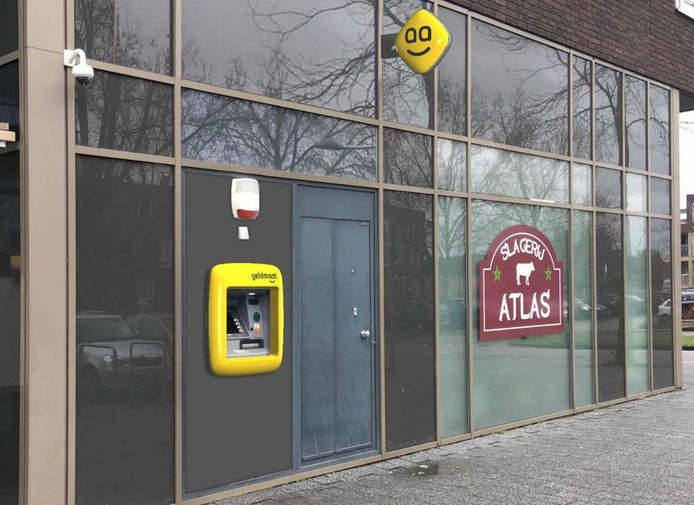 In winkelcentrum Stadsdennen wordt de eerste nieuwe geldmaat van Harderwijk geplaatst.