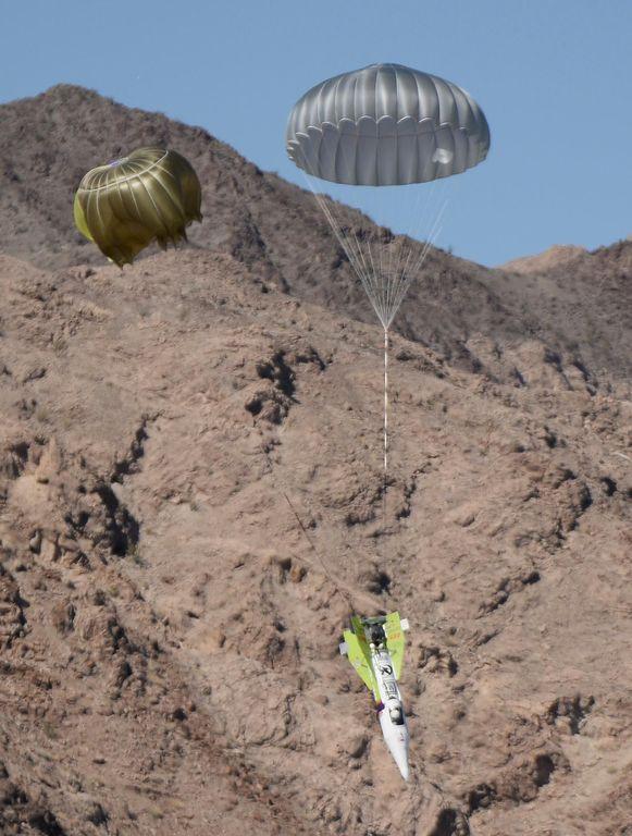 """Archiefbeeld van de eerste lanceringspoging van """"Mad"""" Mike Hughes nabij Amboy in Californië in 2018."""