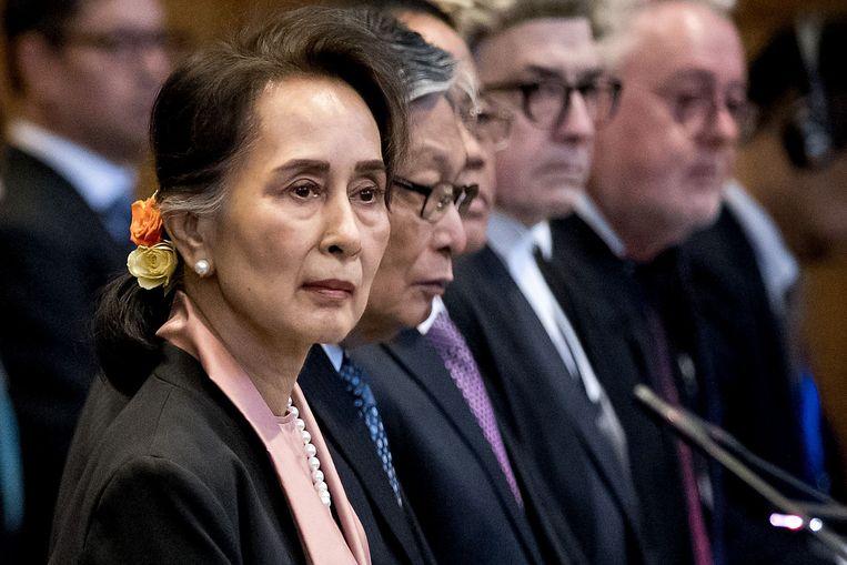 De Myanmarese leidster Aung San Suu Kyi.