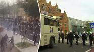 Ware veldslag uitgebroken na Club - Antwerp: drie zwaargewonden, 120 arrestaties