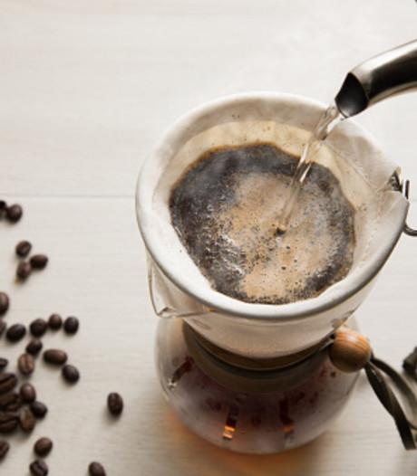 Koffiefilter als canvas