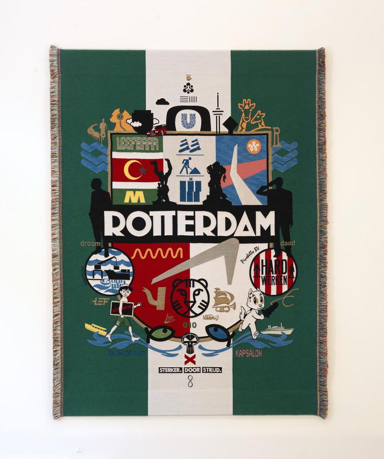 Rotterdams wandkleed, een van de pronkstukken van Museum Rotterdam.