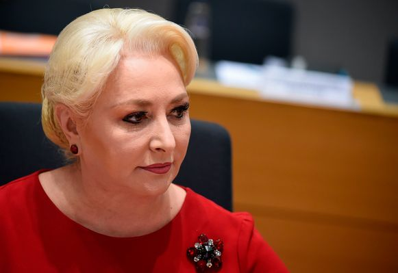 Roemeense premier Viorica Dancila.