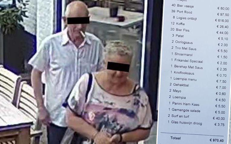 'Henk en Jolanda' logeerden acht dagen in hotel Marcant. Ze lieten er een onbetaalde rekening van bijna 1.000 euro achter.
