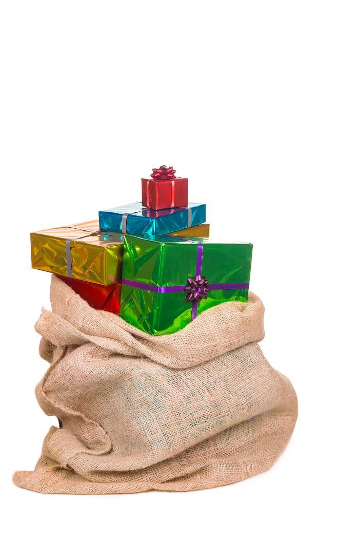 Een zak van Sinterklaas.