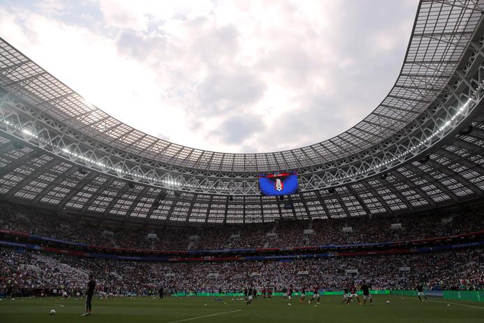 Het Luzhniki-stadion voor Duitsland - Mexico op het WK 2018.